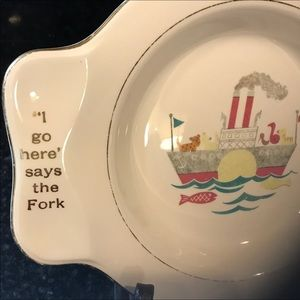 Vintage 1940's Child's Plate